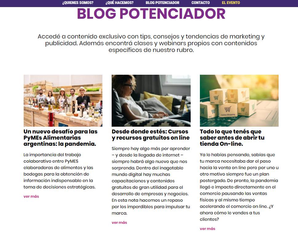 Blog potenciador, nuevo producto de la Expo Delicatessen y Vinos