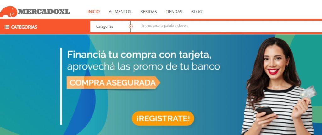 La portada de MercadoXL.com
